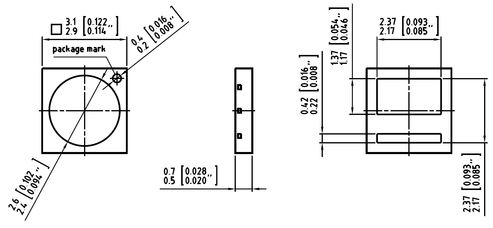 50 pieces OSRAM DURIS® S5 LED 2700K WARM WHITE CRI 82  ~1.0W  3030  GW PSLPS1.EC