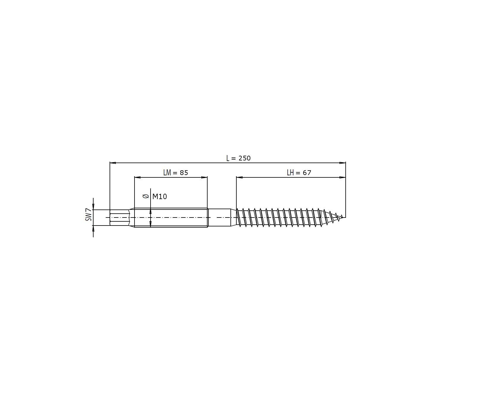 Sperrzahnmuttern+epdm+adapterblech Edelstahl A2 Latest Collection Of 1 Stück Stockschraube M10x160