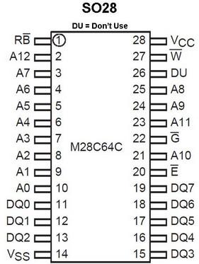 Details about 2 pieces M28C64C-200M1 = 28C64 64Kbit Parallel EEPROM 200ns  SO-28 NEW ~