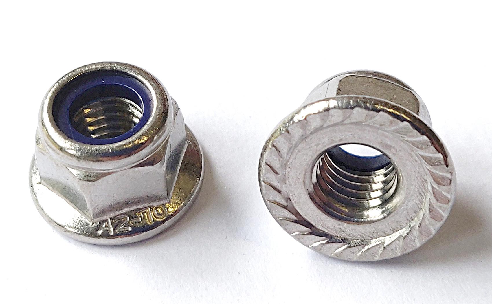 25 Flanschmuttern DIN 6923 A4 M5 mit Sperrverzahnung Edelstahl V4A